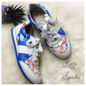 Kate Spade Sidney Floral Leather Trainers Size 8.5